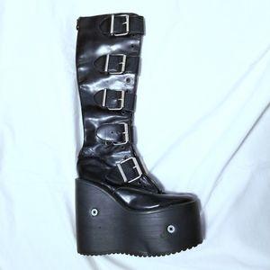 Transmuters, 90s Vintage, Club Kid Boots, Sz 6